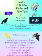 Folklore PPT Fables Myths Folktales Fairytales