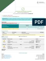 Myholidays Flight Confirmation