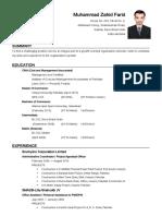 Muhammad Zahid Farid - Resume.pdf