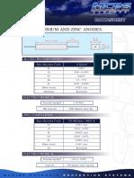 Cathodic Protection data sheet