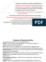 Nature & Importance of Business Policy