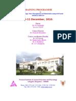 Training Programme.10-11december2010 Brochure