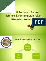 KB-4 Formulasi Pakan Dan Teknik Mencampur