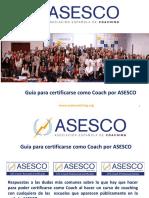 Normativa Acreditacion Coaches y Procesos Certificacion Asesco 2016 17
