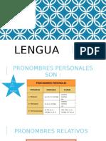 Lengua Pronombres