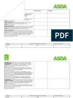 F079h Asda Brand Free From Checklist for FF Module