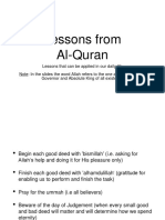Lessons From Al-Quran