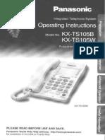 Manual de Teléfono Panasonic TS-105W.pdf