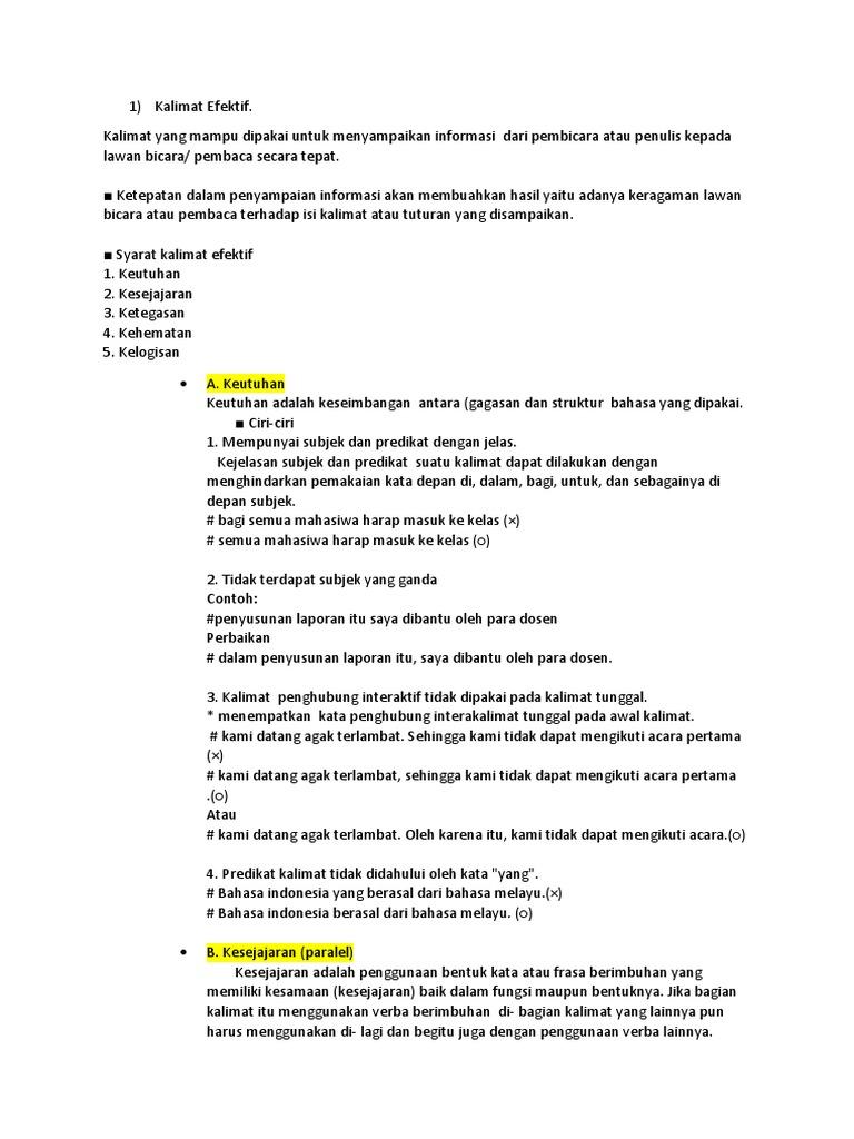 Kalimat Efektif 3 Sepetember