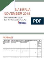 Rencana Kerja November 2018