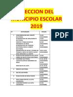Eleccion Del Municipio Escolar 2018