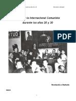 El PCE y la Kommintern años 20-30