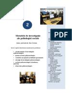 Tema 2 Metodele de investigatie ale psihosociologiei.doc