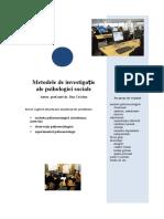 Tema 2b Metodele de investigatie ale psihosociologiei.doc