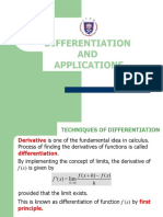 2.Differentiation and Applications