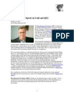 Eric Sprott on Gold and QE2