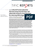 3D-cultured human placentaderived mesenchymal stem cell spheroids enhance ovary function by inducing folliculogenesis