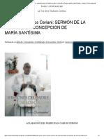 Padre Juan Carlos Ceriani_ Sermón de La Inmaculada Concepción de María Santísima – Radio Cristiandad