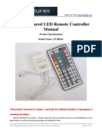 44 Key Infrared LED Remote Controller Manual