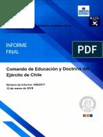 Informe Final 466-17 Comando de Educación y Doctrina Del Ejército de Chile - Sobre Auditoría a Los Gastos Por Viajes de Estudios - Marzo 2018