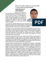 PERÚ, Diagnóstico de Un País Catatónico Por La Corrupción