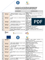 PLANIFICARE FINALA Activități Recreative Anuala SDS