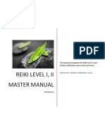 100 Reiki Level I II Master Manual