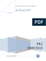 Panduan Microsoft Office Wordl 2007