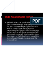 function of wide area network