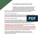 Actualizaci n de La Normativa Vigente Del 2014 Al 2018