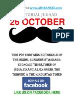All Editorial in One PDF 26 October (Editorial Jugaad)