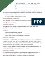 JUEGOS SOCIOMOTRICES BALONCESTO