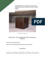 M. Fried Arte y Objetualidad