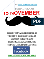 Editorial Jugaad 15 Nov