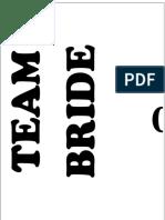 Team Bride Bro