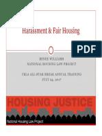 Harassment Fair Housing CRLA 2017