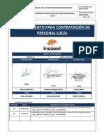 Procedimiento de Contratacion Zonal - 2018