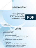 Workshop Event History Analysis