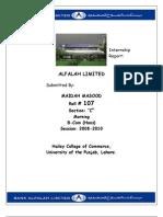 25258216 Internship Report on Bank Alfalah