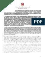 DECLARACIÓN POLÍTICA1