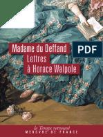 Correspondance Avec Horace Walpole (1766-1780)