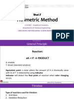 TITRIMETRIC METHODE