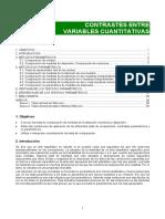 Contrastes de Variables Cuantitativas