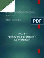 Lenguaje Connotativo y Denotativo. - El Resumen- Mapa Conceptual.