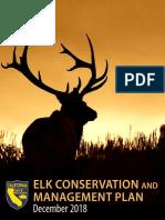 2018 California Department of Fish and Wildlife Elk Plan