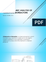 Thermodynamic Analysis of Fermenters