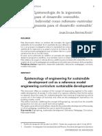 Epistemologia de la ingenieria para un desarrollo sostenible
