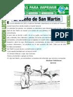 Ficha El Sueño de San Martín Para Tercero de Primaria