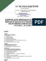 CAPITOLATO D'APPALTO