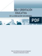 Tutoría y Orientación Educativa en La Educación Secundaria